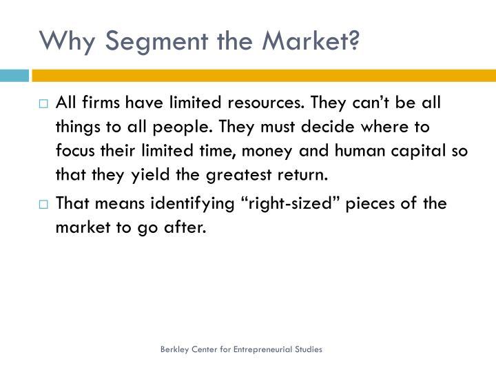 Why segment the market