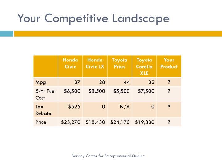 Your Competitive Landscape