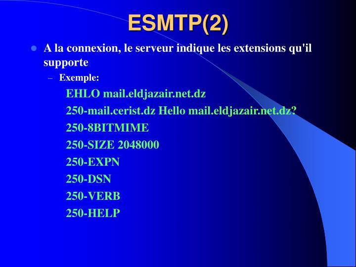 ESMTP(2)