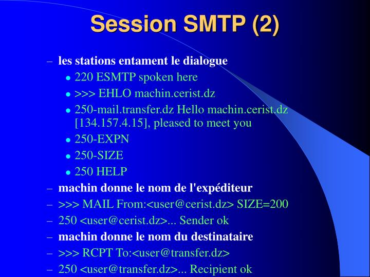 Session SMTP (2)