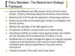 policy mandates the medium term strategic framework