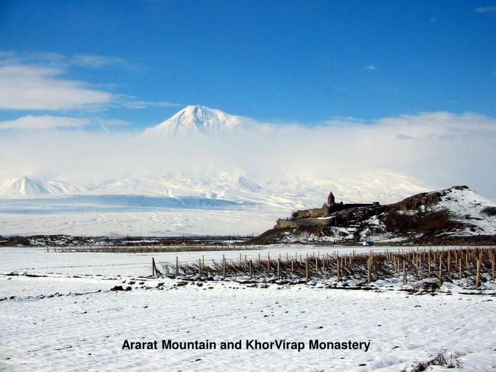 Ararat Mountain and KhorVirap Monastery