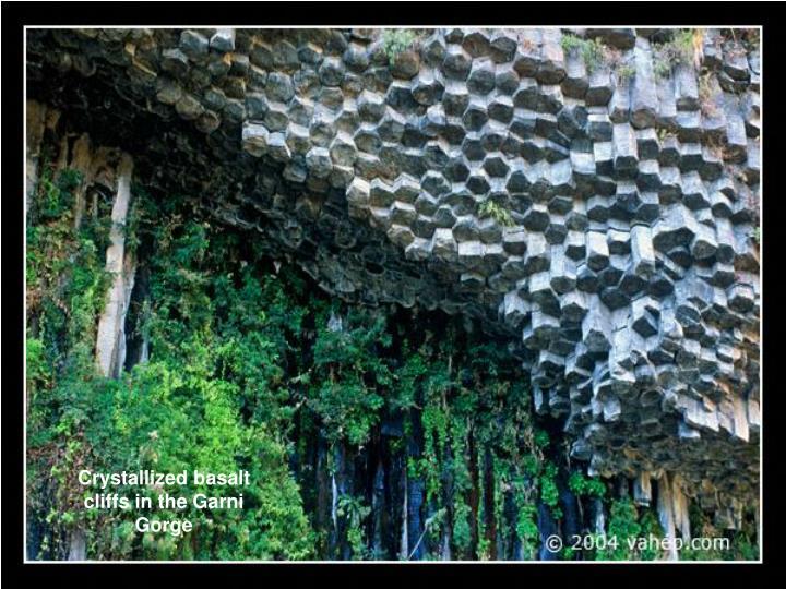 Crystallized basalt cliffs in the Garni Gorge