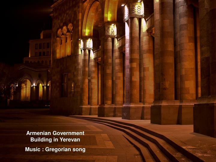 Armenian Government Building in Yerevan