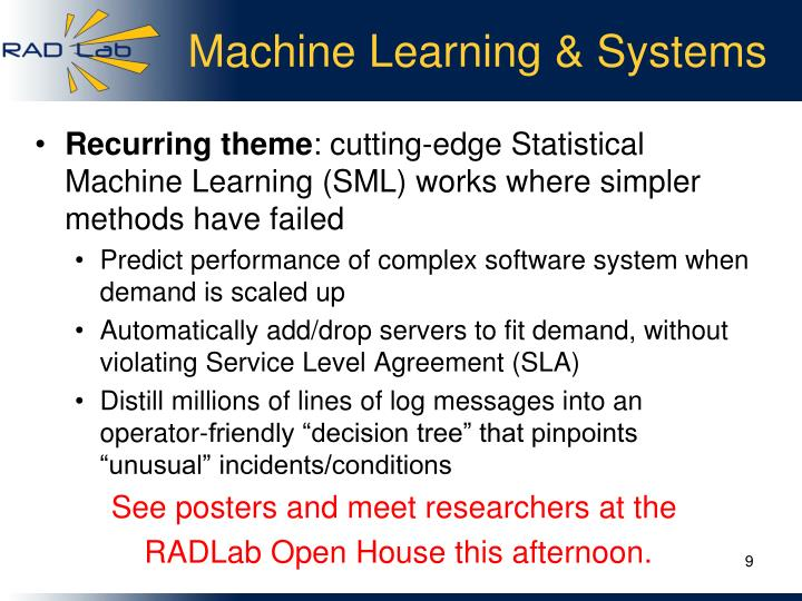 Machine Learning & Systems