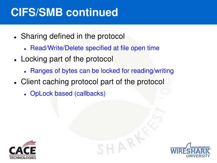 CIFS/SMB continued
