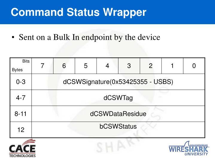 Command Status Wrapper