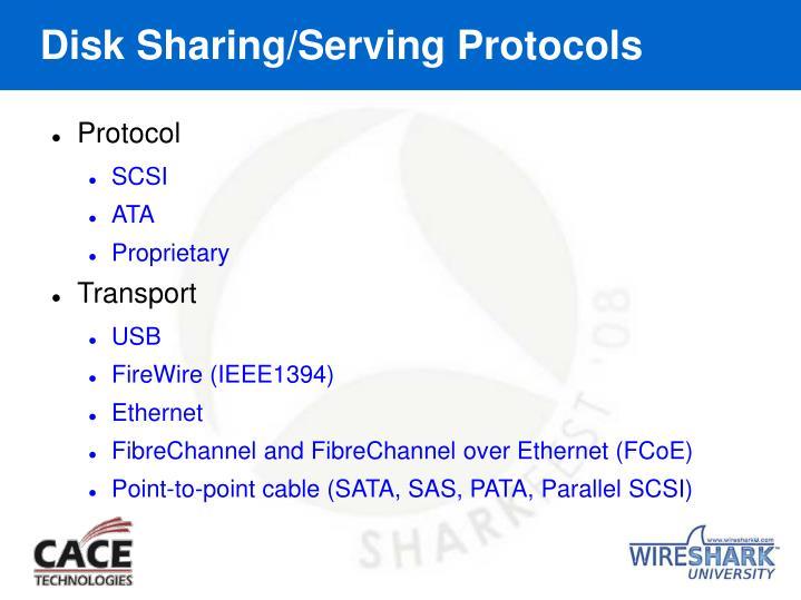 Disk Sharing/Serving Protocols