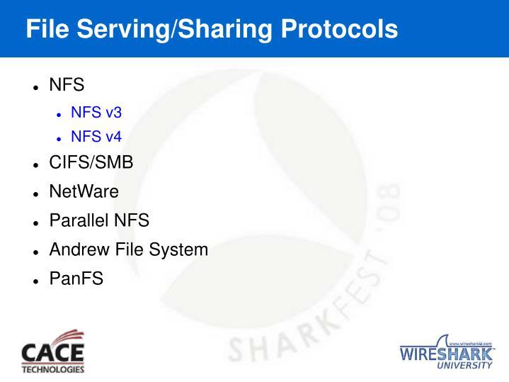 File Serving/Sharing Protocols