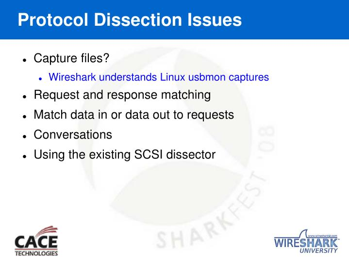 Protocol Dissection Issues