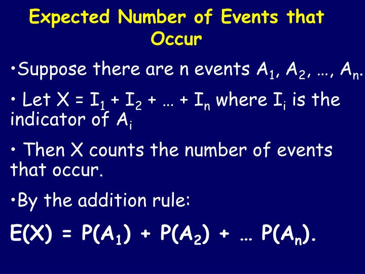 Expected Number of Events that Occur