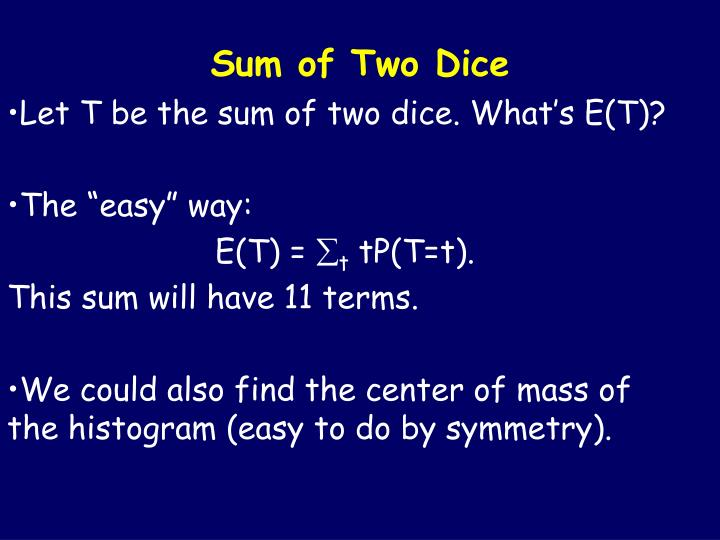 Sum of Two Dice
