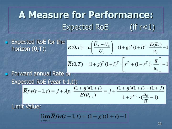 A Measure for Performance: