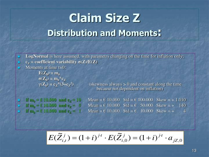Claim Size Z