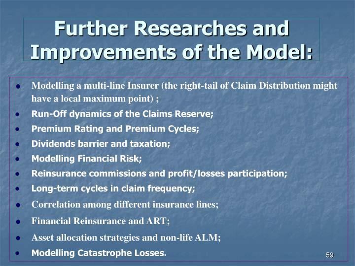 Further Researches and Improvements of the Model: