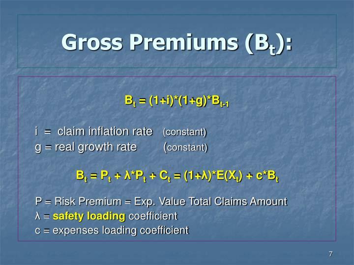 Gross Premiums (B