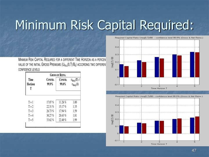 Minimum Risk Capital Required: