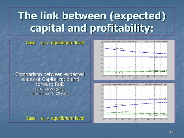 The link between (expected) capital and profitability: