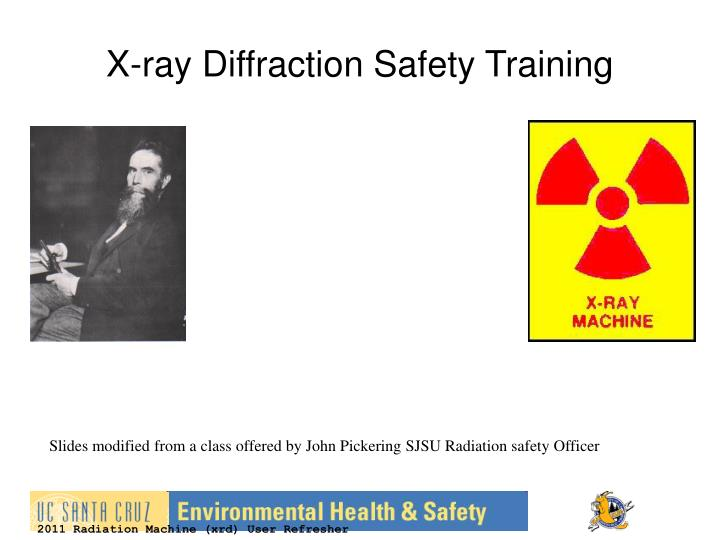 X-ray Diffraction Safety Training
