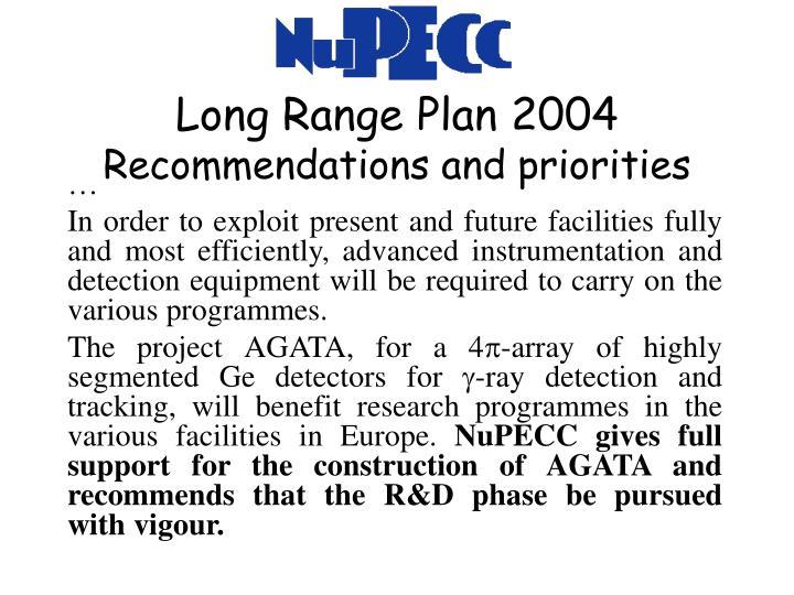 Long Range Plan 2004