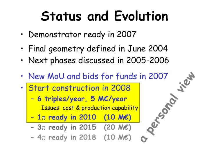 Status and Evolution