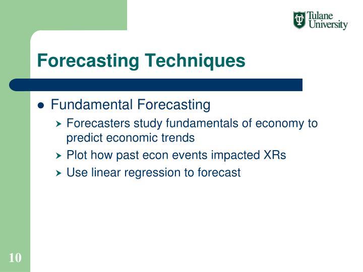 Forecasting Techniques