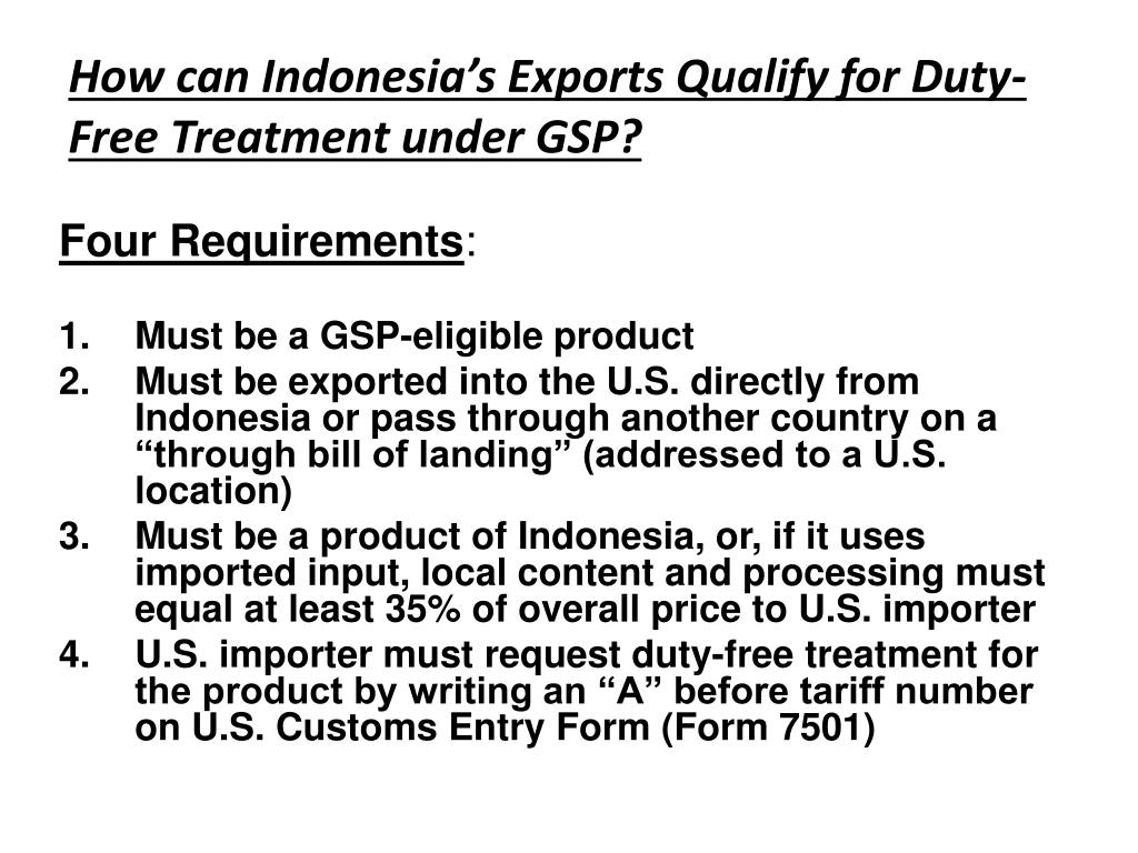 PPT - Expanding Indonesia's Exports to the U S  through the
