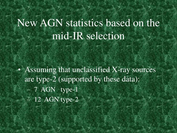 New AGN statistics based on the mid-IR selection