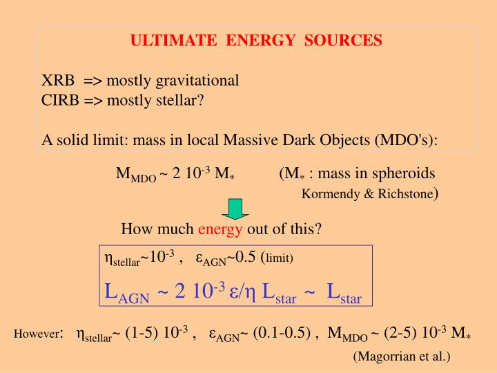 ULTIMATE  ENERGY  SOURCES