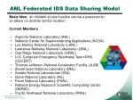 anl federated ids data sharing model