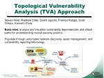 topological vulnerability analysis tva approach