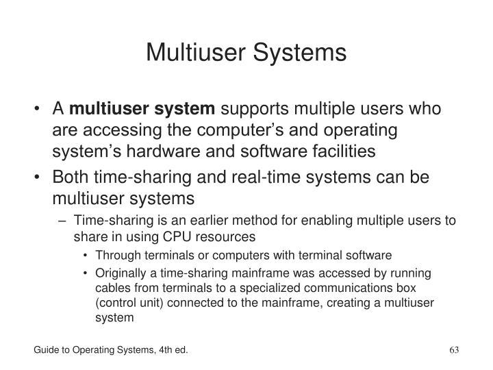 Multiuser Systems
