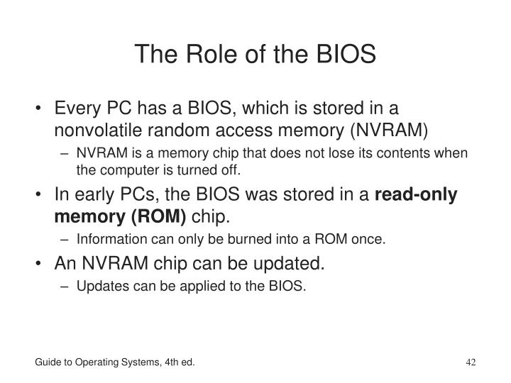 The Role of the BIOS
