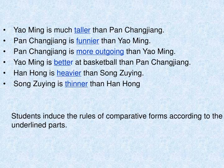 Yao Ming is much
