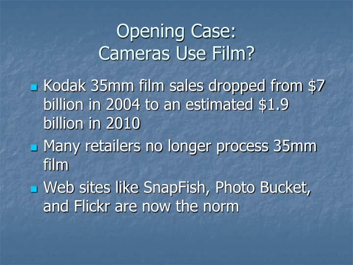 Opening case cameras use film1