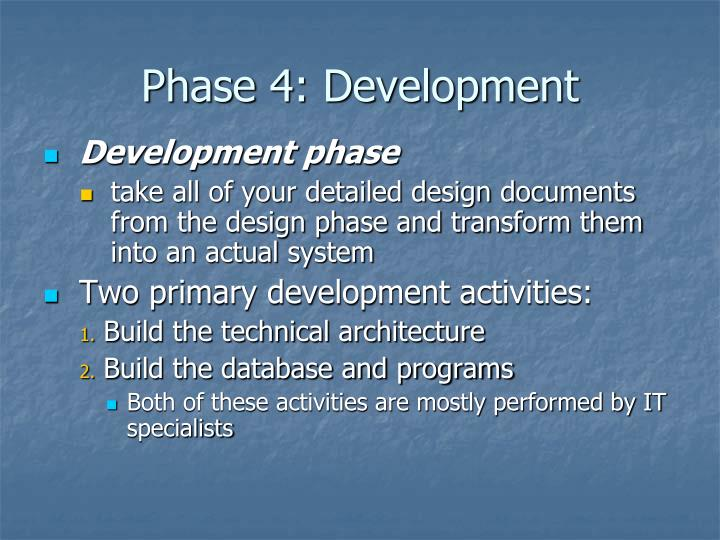 Phase 4: Development