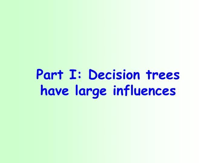Part i decision trees have large influences