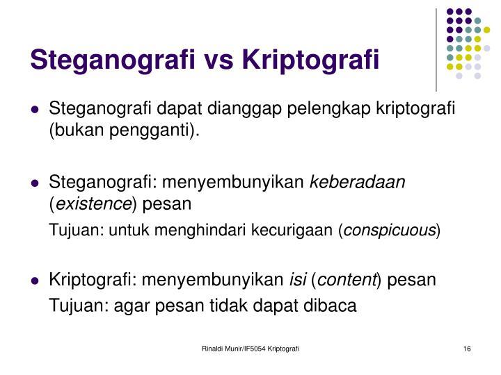 Steganografi vs Kriptografi