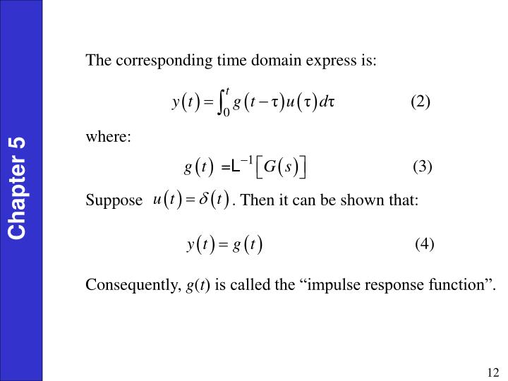 The corresponding time domain express is: