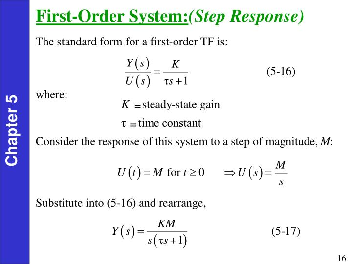 First-Order System: