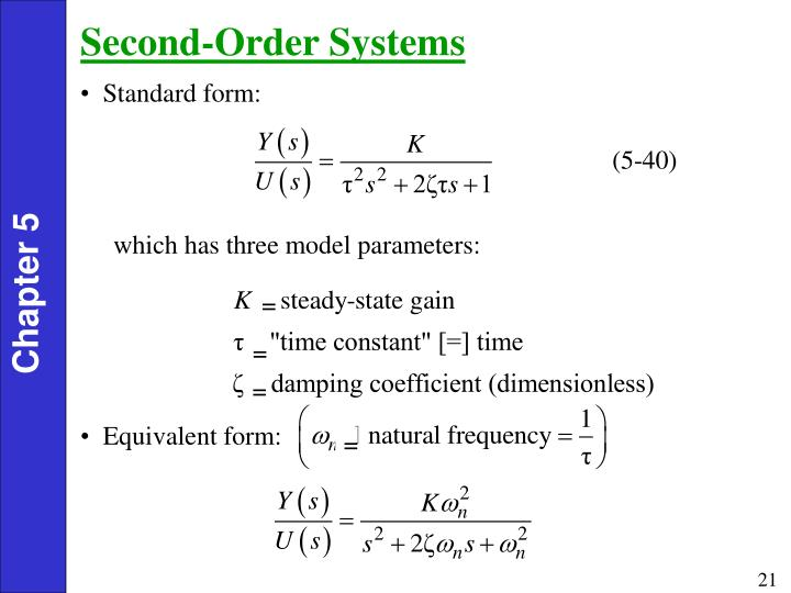 Second-Order Systems
