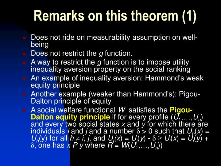 Remarks on this theorem (1)