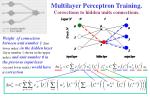 multilayer perceptron training corrections to hidden units connections1
