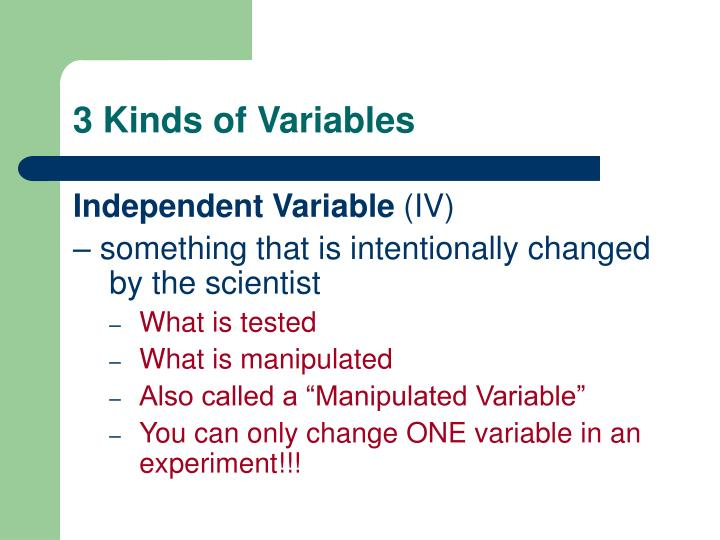 3 Kinds of Variables