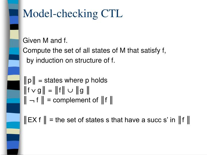 Model-checking CTL