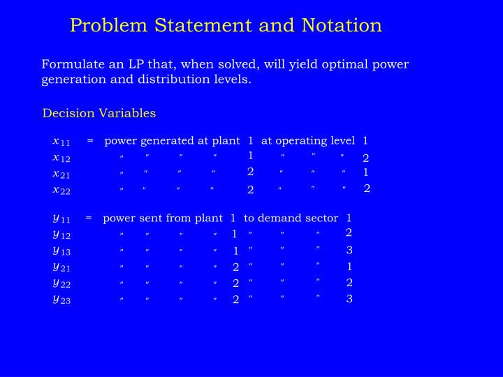 Problem Statement and Notation