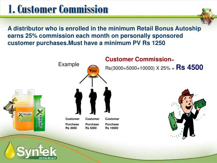 1. Customer Commission