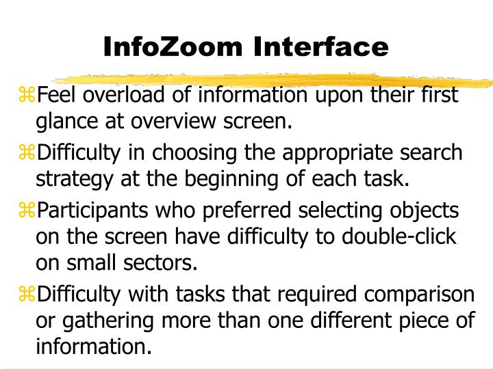InfoZoom Interface