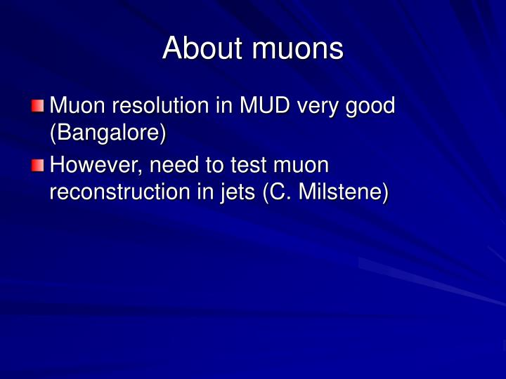 About muons