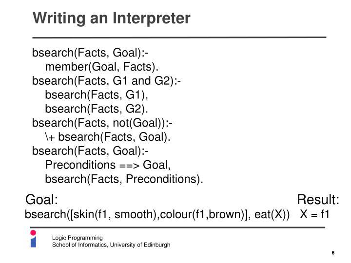 Writing an Interpreter